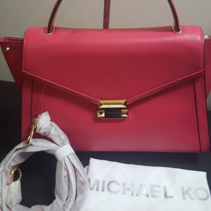 Michael Kors Large Whitney Rose Pink Satchel